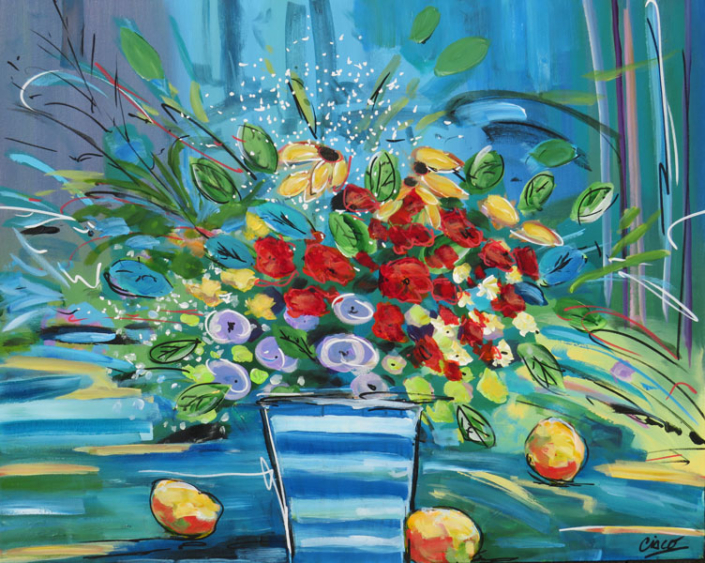 Abstract Floral Artist Cisco - Oceanside Art Gallery